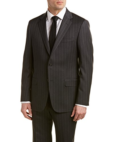 Hickey Freeman Mens Milburn Ii Wool Suit with Flat Front Pant, - Hickey Suits Mens Freeman