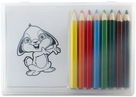 Cuaderno con 8 Lápices de Colores para Niños - Ideal para Restaurante / Café / Bodas: Amazon.es: Hogar