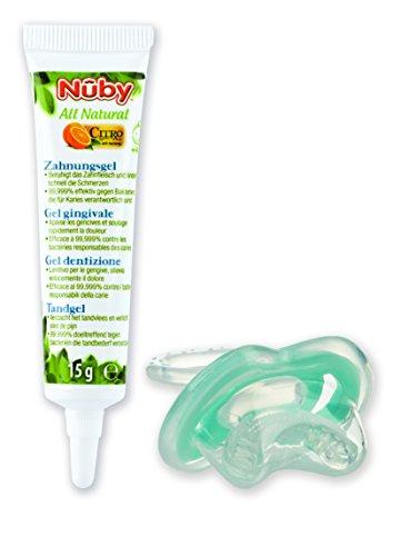 Nuby Gum-eez Teether with All Natural Teething Gel, 15 g
