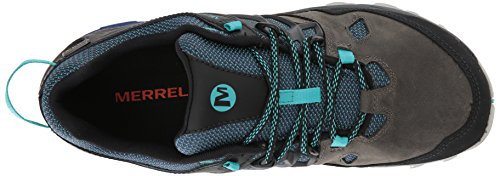 Merrell Womens All Out Fiammata 2 Scarpe Da Trekking Impermeabili In Peltro / Mazarine Blu