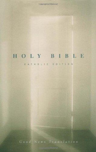 GNT Holy Bible, Good News Translation, Catholic Edition