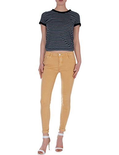 up Ocre Pitillos Pantalones push Fraternel Vaqueros skinny mujer FwCZqa4a