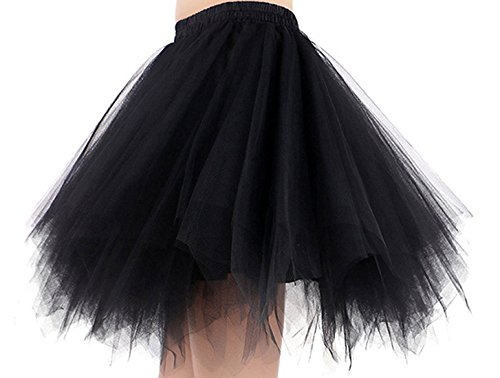 Jupe Noir Kid Enfant lastique Tulle pour FEOYA Courte Ballet Adulte Fte Lger Rouge Vert Spectacle Danse Taille Blanc Femme Noir Fille 5qYRpnY