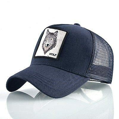 Bros la Granja Animal Trucker Snapback Gorra de béisbol Cap Black Wolf: Amazon.es: Ropa y accesorios