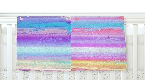 KESS InHouse Nina May Drip Dye Paint Pastel Fleece Baby Blanket 40 x 30 [並行輸入品]   B077Z2BHRG
