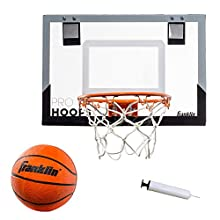 """Franklin Sports Over The Door Mini Basketball Hoop - Slam Dunk Approved - Shatter Resistant - Accessories Included, Standard - 17.75"""" x 12"""""""