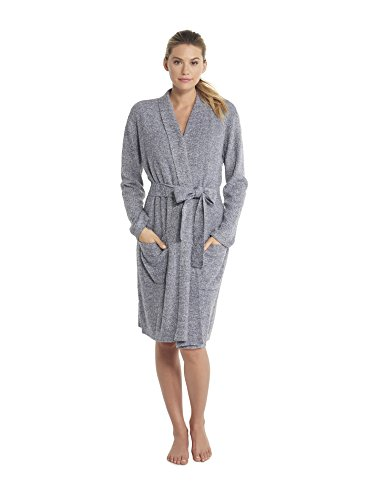 Barefoot Dreams CozyChic Lite He Ribbed Robe, Pacific Blue-Pearl, Small/Medium by Barefoot Dreams