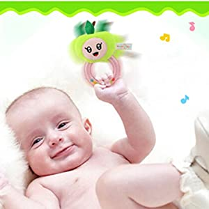 Meolin Soft Ring Rattle for Newborn Infant Newborn Baby Toys,Plush,6.693.54in
