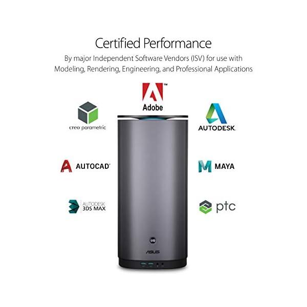 ASUS ProArt PA90 Mini PC Workstation with Intel Core i9-9900K Processors,  NVIDIA Quadro P4000 Graphics, Thunderbolt 3, DisplayPort, WiFi, Gigabit LAN