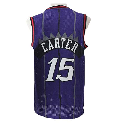 Vince Basketball Carter (Men's Carter Jerseys Basketball Athletics Jerseys Retro Jersey 15 Purple (XL))