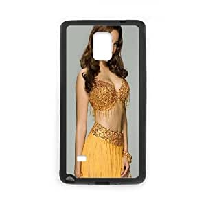 Samsung Galaxy Note 4 Cell Phone Case Black Kelly Brook Yellow Dress SUX_954170