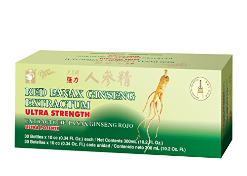 Panax Ginseng Extractum 10 Vials - Prince Of Peace Red Panax Ginseng Extractum, 10 Milliliter - 30 bottles per pack - 3 packs per case.