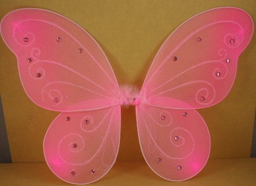 Pink Butterfly Fairy Costume Wings 18