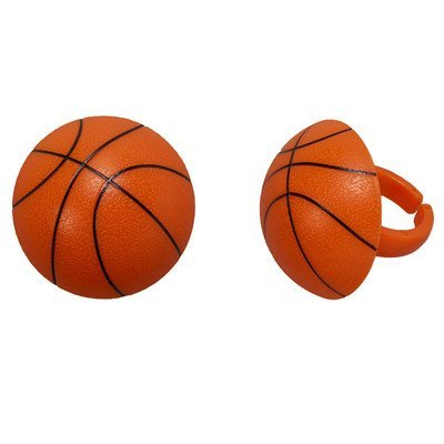 3D Basketball Cupcake Rings - 24 pc]()