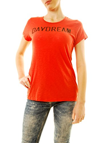 Sundry Women's Basic Short Sleeve Daydream Tee Red US 1