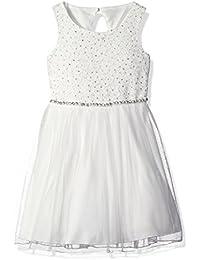 Speechless Little Girls' Sequin Lace Jeweled Waist...