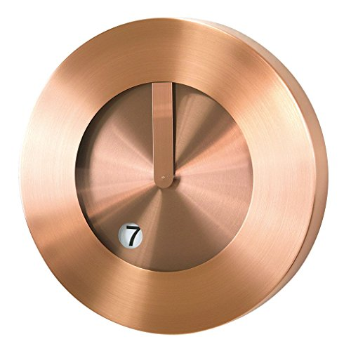 Time Concept Futuristic Wall Clock - Copper - Metal Steel Frame, Analog