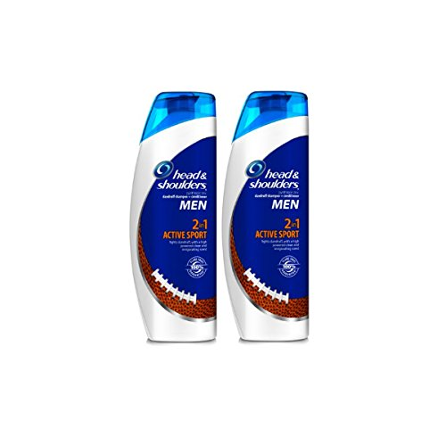 Head and Shoulders Men Active Sport 2-in-1 Dandruff Shampoo and Conditioner 13.5 Fl Oz (Pack of 2)