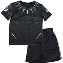 Marvel Avengers Black Panther & Hulk Boys' Athletic T-Shirt & Mesh Shorts Set