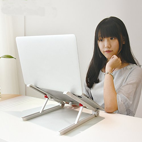 Zyoda-Portable-Laptop-Stand-Foldable-Adjustable-Notebook-Holder-Eye-Level-Ergonomic-Lightweight-Compact-Universal-Fit-for-PC-Macbook-ComputerWhite