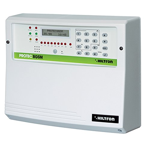 hiltron Central de alarma protec8gsm 8zone + 1 combinador ...