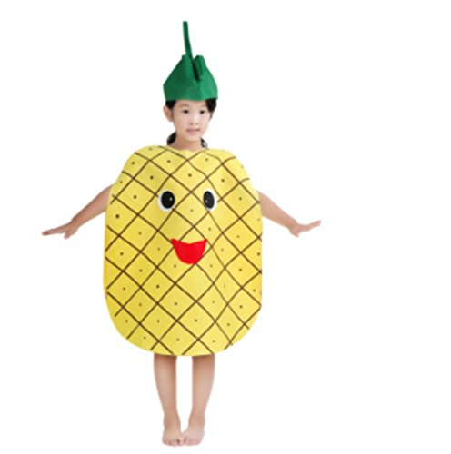 [Cute Kids Performance Stage Costume One Size Halloween Christmas (Pineapple)] (Pineapple Costume Girl)