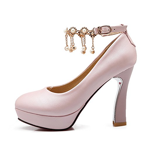 Pumps Pink Ladies Shoes Sweety Adee Polyurethane nqARwxYtgX