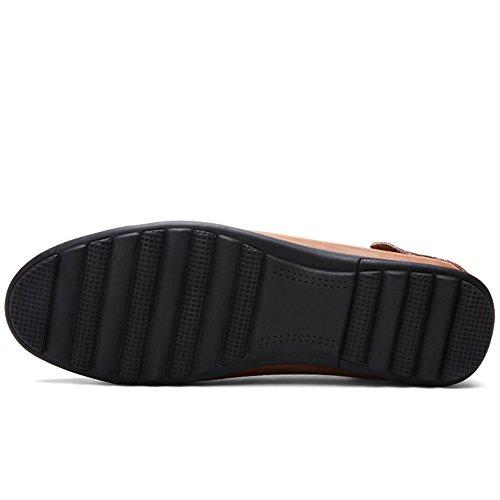 Lakerom Man Dagdrivare För Läder Skor Män Halka På Skor Tillfälliga Läderskor Black13
