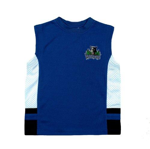 Minnesota Timberwolves NBA Youth Boys Knit Top Jersey Practice Tank Top, Slate Blue & White (Boys Medium / 12-14, Slate Blue / - Tank Practice Mesh Top