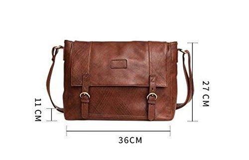 FZHLY Herren Umhängetasche High-End Aktentasche Freizeit Messenger Bag