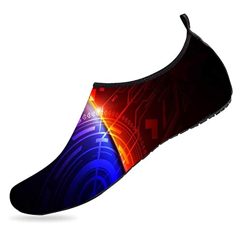 Breathable Barefoot Aqua Socks Galaxy Mens Womens Water Shoes Quick-Dry Shoes for Running Walking Kayaking Yoga