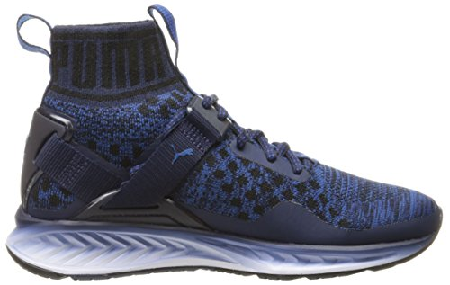 Scarpe Ignite Evoknit Fade Cross-Trainer da uomo, Peacoat / Puma Black / True Blue, 6 M US
