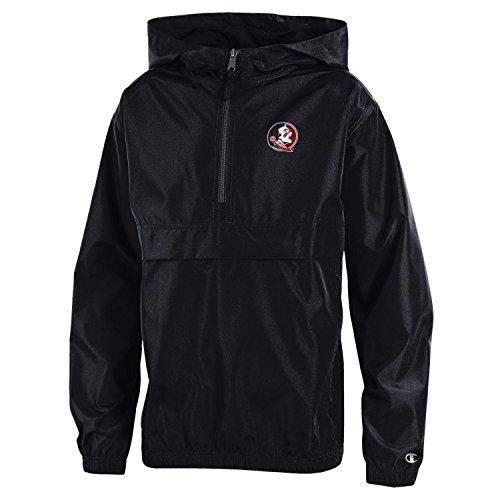 Champion NCAA Florida State Seminoles Youth Boys Packable Jacket, Large, Black -
