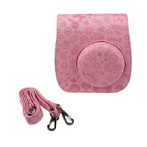coromose-emboss-pu-leather-camera-case-bag-for-fujifilm-instax-mini8-mini8s-pink