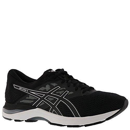 ASICS Mens Gel-Flux 5 Running Shoe, Black/Silver/Carbon, Size 12 (Asics Gel Energy)