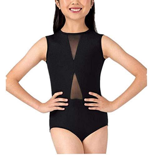 5d9942d0f218 iEFiEL Girls Sleeveless Splice Criss-cross Back Ballet Dance Dress Dancewear  Leotard Gymnastics Tops Costumes