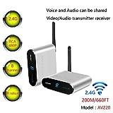MEASY AV220 2.4GHz Wireless AV Sender Transmitter and Receivers Audio Video up to 200M / 660FT