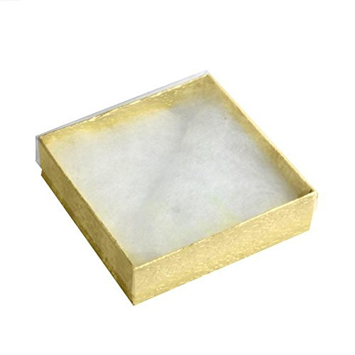 Clear-View Lid Gold Cotton Filled Packaging Display Boxes ~ 100 Boxes Per Pack