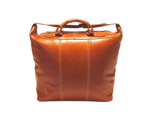 Floto Luggage Piana Leather Tote, Vecchio Brown, Large by Floto