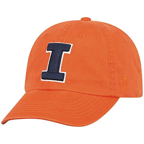 (Top of the World Illinois Illini Men's Hat Icon, White, Adjustable)