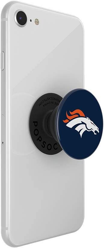 NFL PopGrip with Swappable Top for Phones /& Tablets Denver Broncos Helmet PopSockets