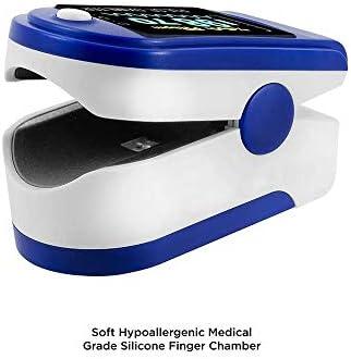 Oxímetro y Pulsómetro para Monitoreo de Saturación de Oxígeno y Latidos por Minuto con Pletismografía Saturación de Oxígeno NEGRO (sin baterias) 4