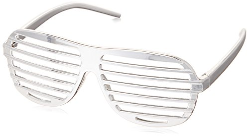 Men's Slotted Glasses Costume Accessory in Silver ()