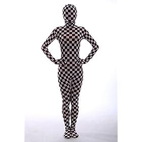 - 41B4iOZqkbL - Nedal Checkered Bodysuit Costume For Women Halloween Onesie Lycra Zentai