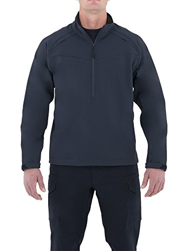 - First Tactical Men's Cotton Job Quarter Zip Shirt, Midnight Navy, Large