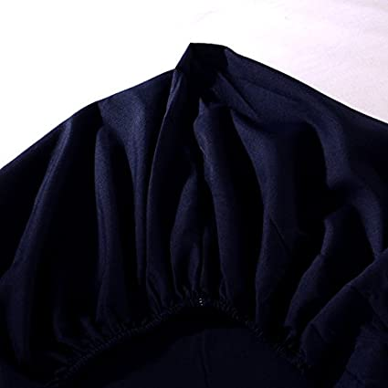 Zhiyuan S/ábana Ajustable 2 Fundas de Almohada 150x200cm Azul Marino