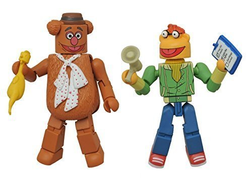 DIAMOND SELECT TOYS Minimates- The Muppets- Fozzie Bear & Scooter by Diamond - Muppets Scooter