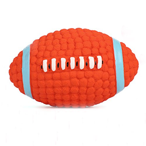 (Aoruisier Red Football Pet Puppy Molar Training Pet Toy Dog Tooth Cleaning Chew Teeth Cleaning Dog Chew Toy 9.5cm)