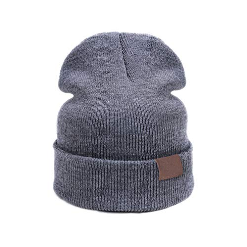 New Baby Hat Children Warm Hat for Boys Girls Skullies Beanies Gray ()