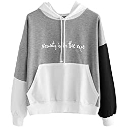Blouse For Women 2017 ,BeautyVan New Design Womens Letters Long Sleeve Beautiful Hoodie Pullover Tops (L2, Gray)